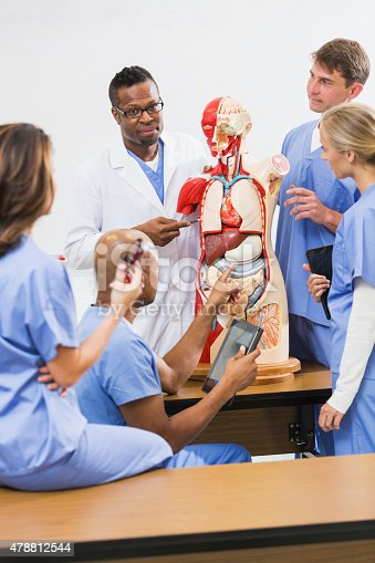 istock Instructor and students in medical school anatomy class 478812544