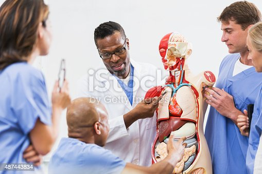 istock Instructor and students in medical school anatomy class 487443834
