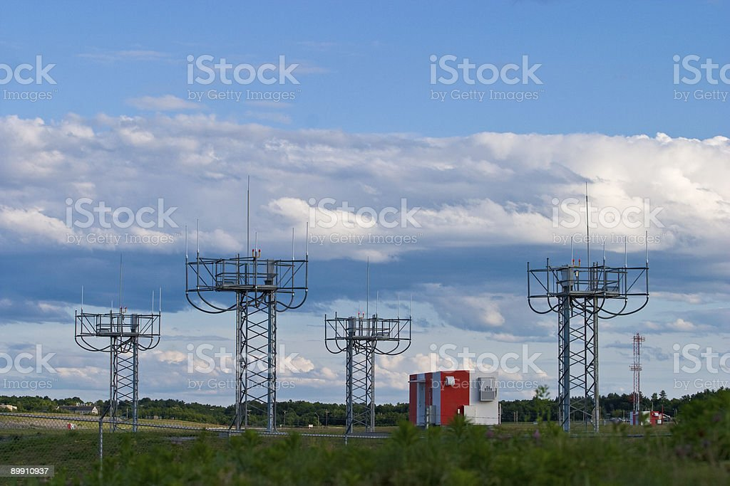Instrument Landing System royalty-free stock photo