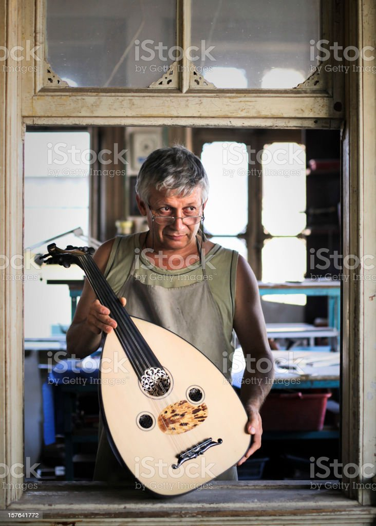 Instrument Maker's Studio stock photo