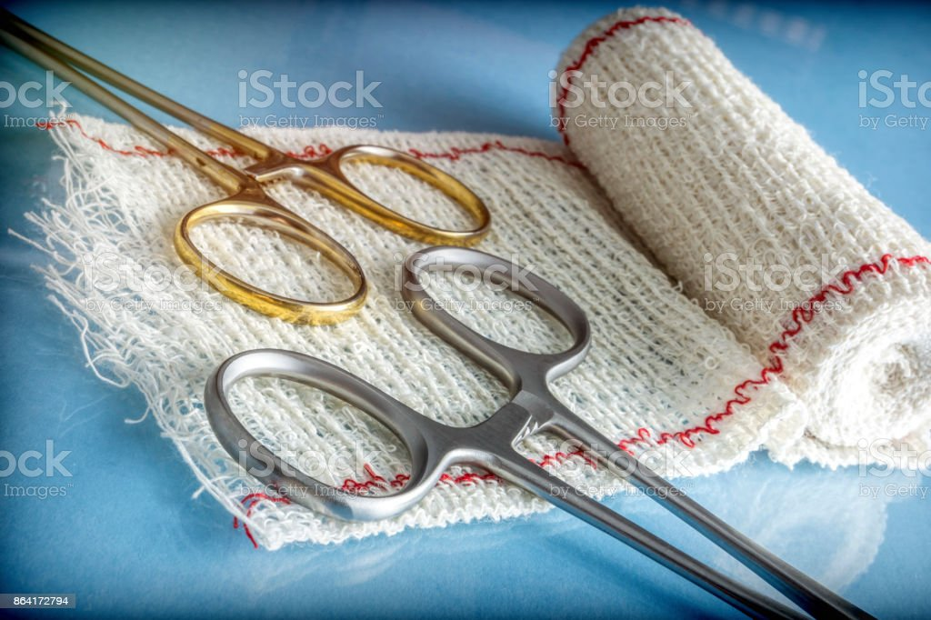 Instrumental surgical in operating room, conceptual image royalty-free stock photo