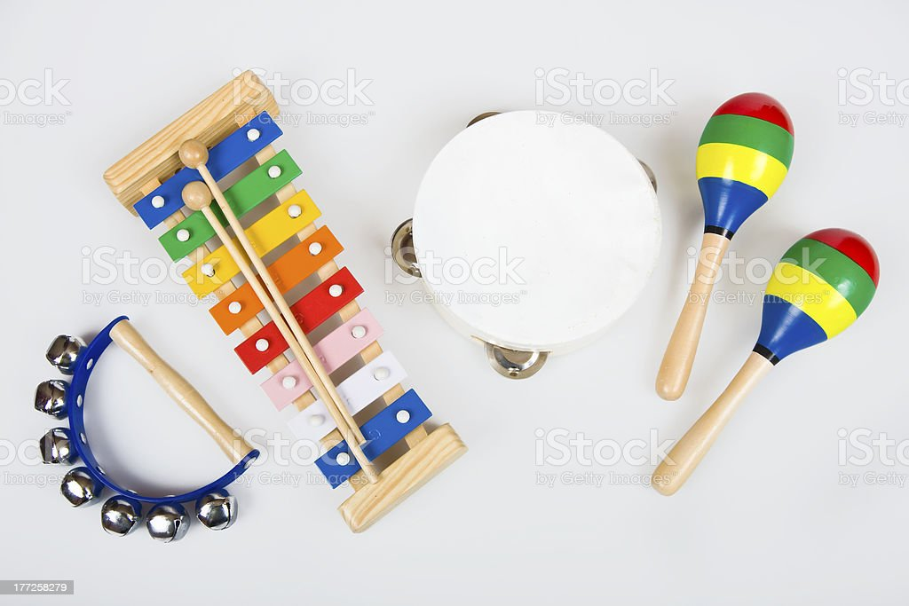 Instruments for children stock photo