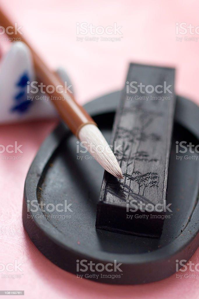 Instruments of Sumi-e royalty-free stock photo