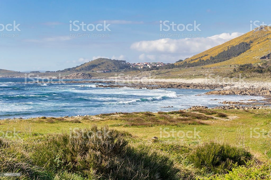 Insuela beach in Carnota royalty-free stock photo
