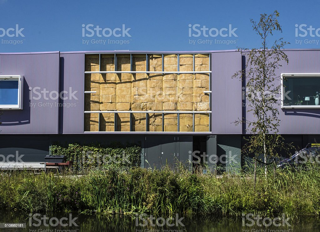 Insulated wall stock photo