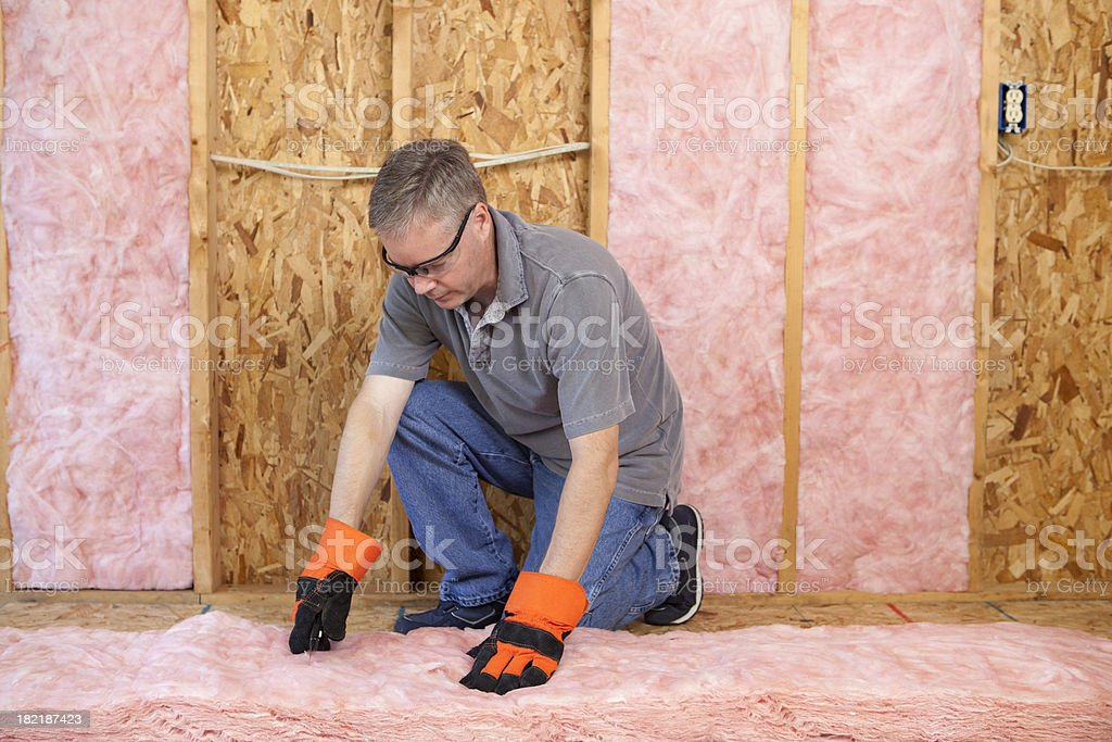 Insulation Contractor royalty-free stock photo