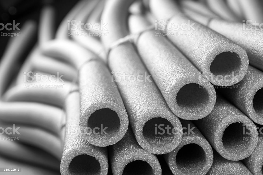Insulation for pipes stock photo