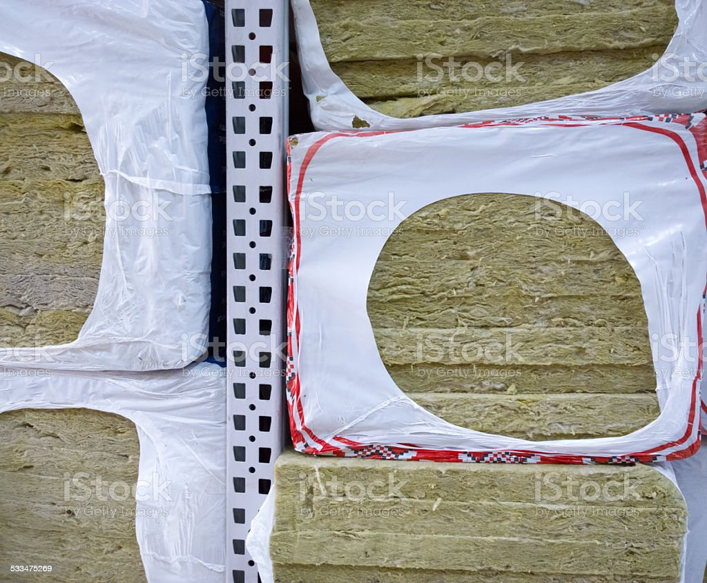 Insulation in the store. stock photo