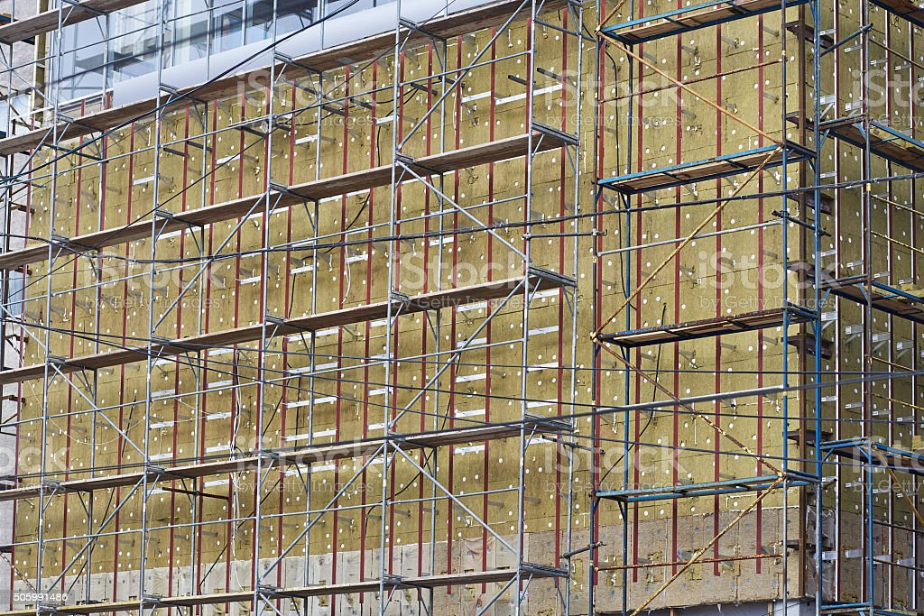 Insulation of facades stock photo