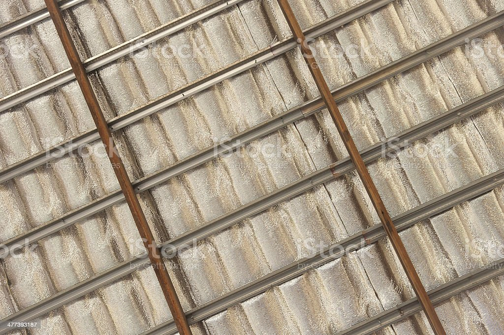 insulation roof structure stock photo