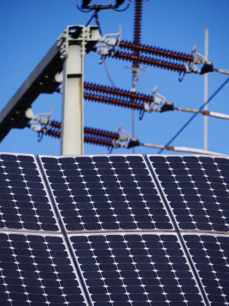 insulator solar cell stock photo