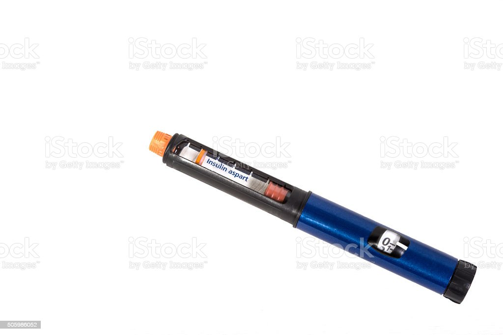 Insulin Injection Pen stock photo