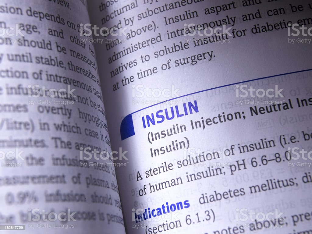 insulin royalty-free stock photo