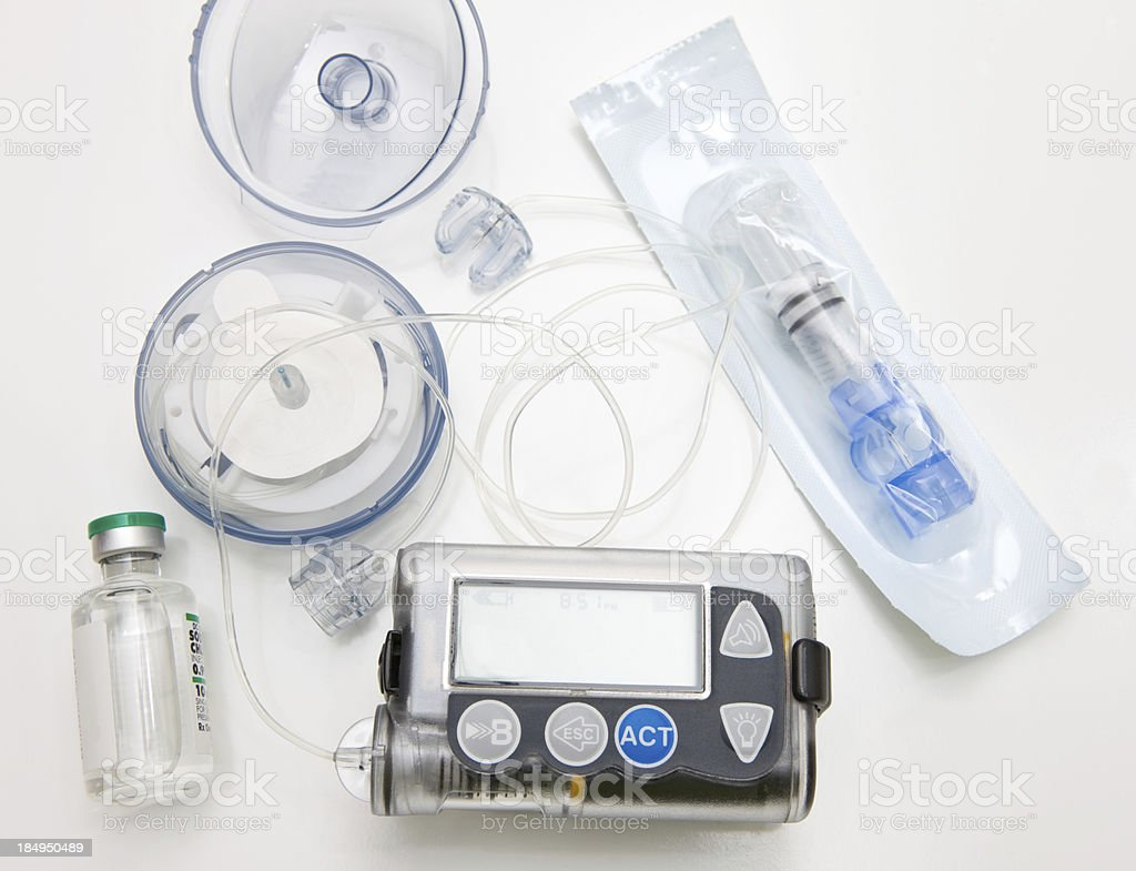 Insulin Pump, Infusion Set and Reservoir royalty-free stock photo