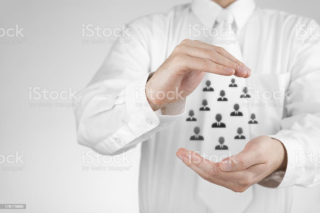 Insurance and customer care concept royalty-free stock photo
