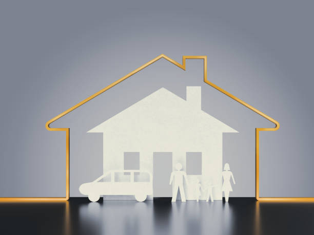 insurance and family security concept – Foto