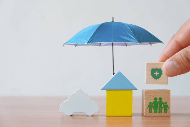 Insurance and investment concept stock photo
