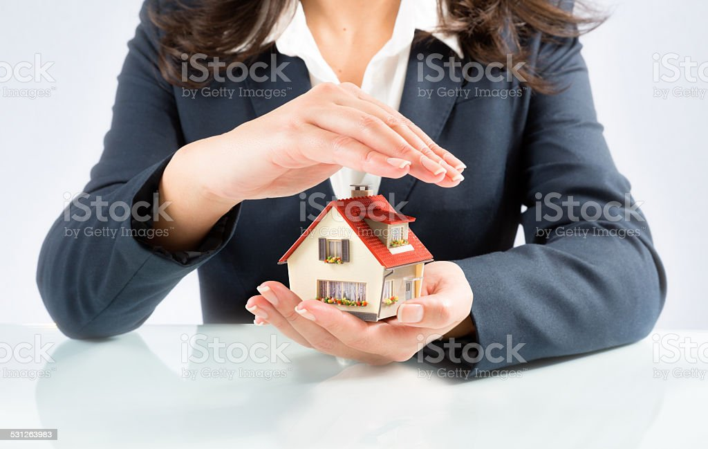 insurance and protect concept of your own home stock photo