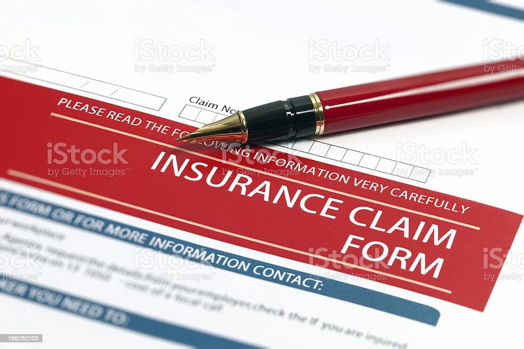 Insurance Claim Form stock photo