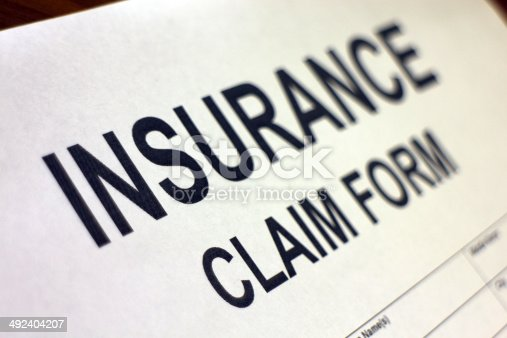 1128824554 istock photo Insurance Claim Form 492404207