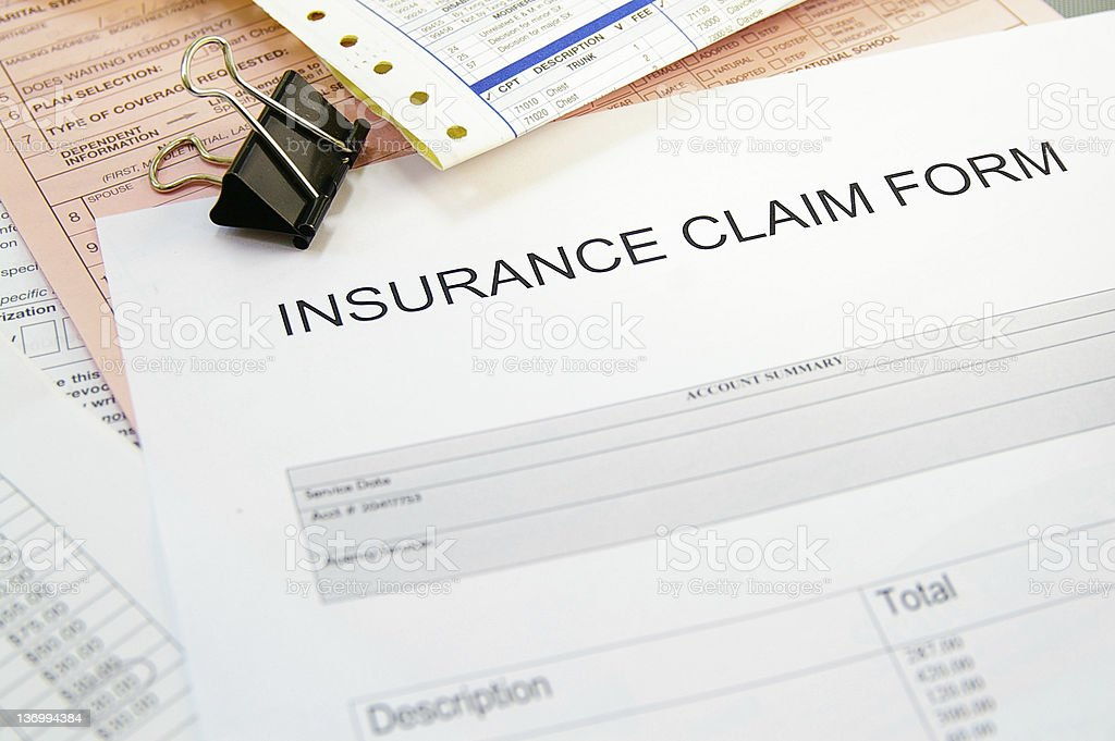 Insurance claim royalty-free stock photo