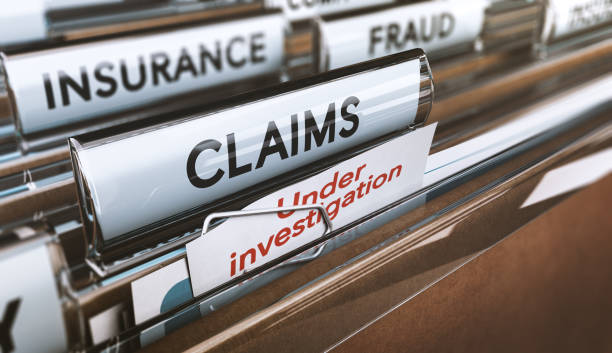insurance company fraud, bogus claims under investigations - insurance stock photos and pictures
