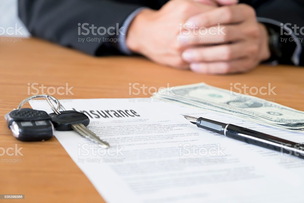 Insurance concept copyspace background. stock photo