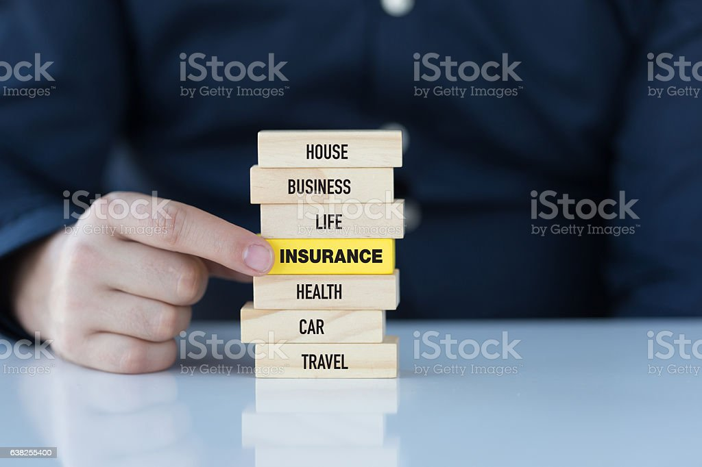 Insurance Concept with Related Keywords stock photo