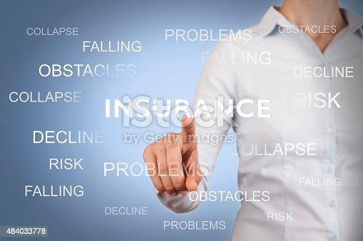 683425144 istock photo Insurance Conceptual Working on Touch Screen 484033778