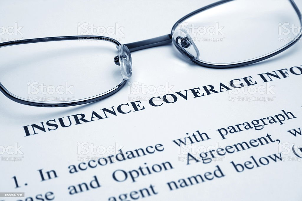 Insurance coverage royalty-free stock photo