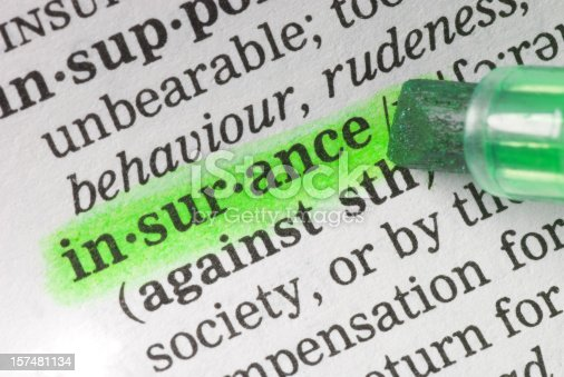 184640907istockphoto insurance definition highligted in dictionary 157481134
