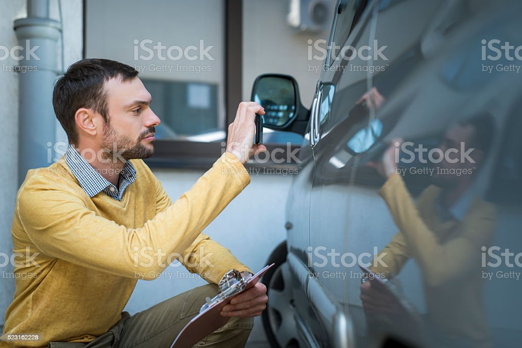 Insurance expert at work stock photo