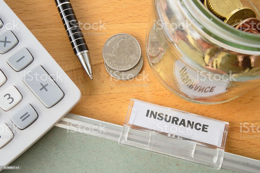 Insurance file stock photo