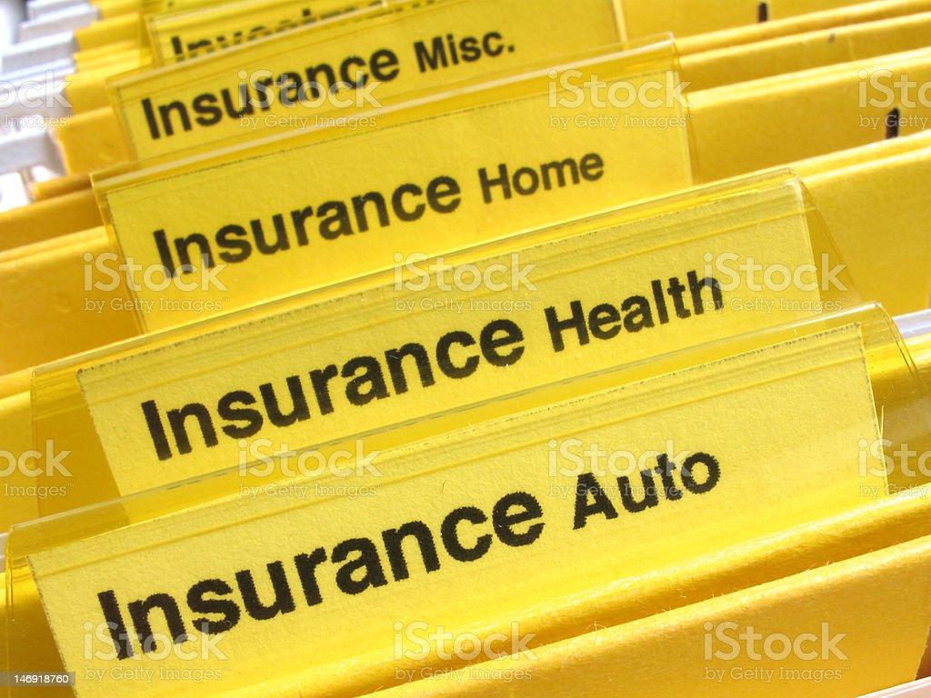 Insurance folders royalty-free stock photo