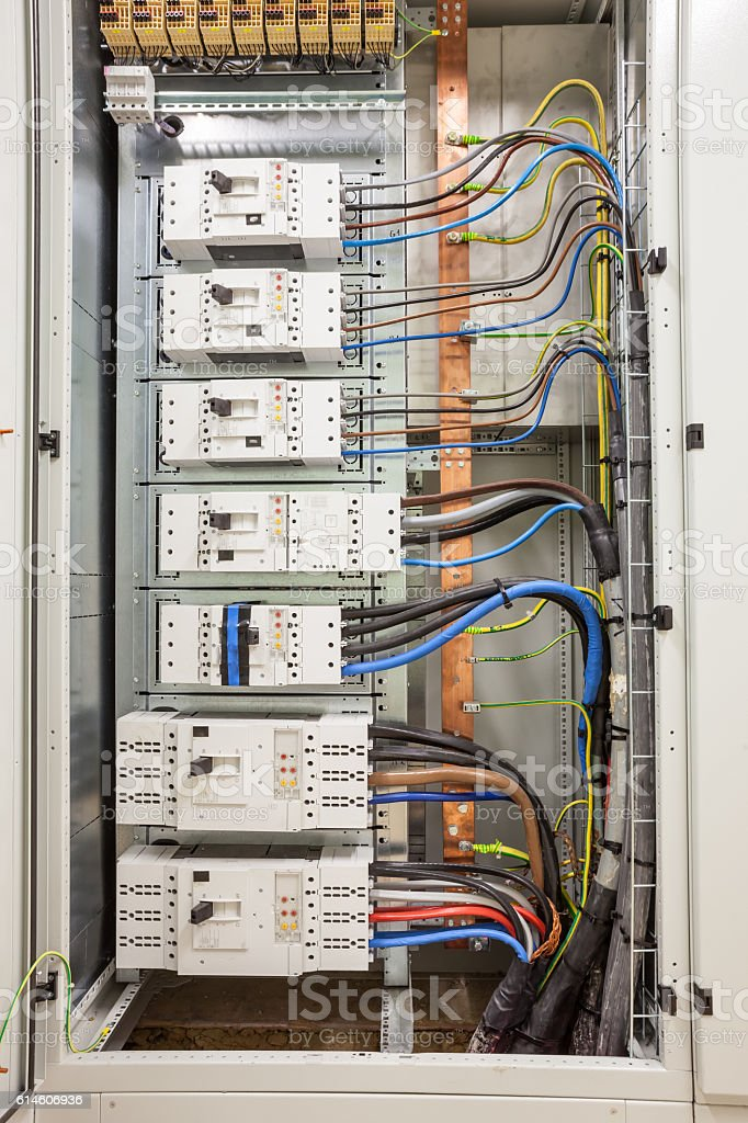 insurance in an electric cabinet stock photo