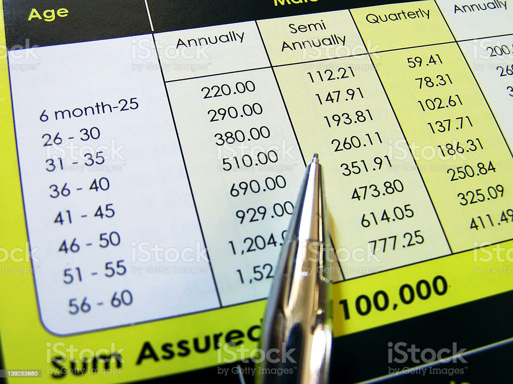 insurance payment table royalty-free stock photo