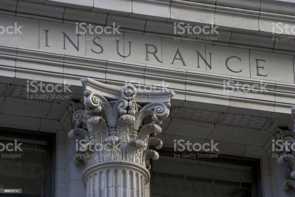 Insurance Pillar royalty-free stock photo