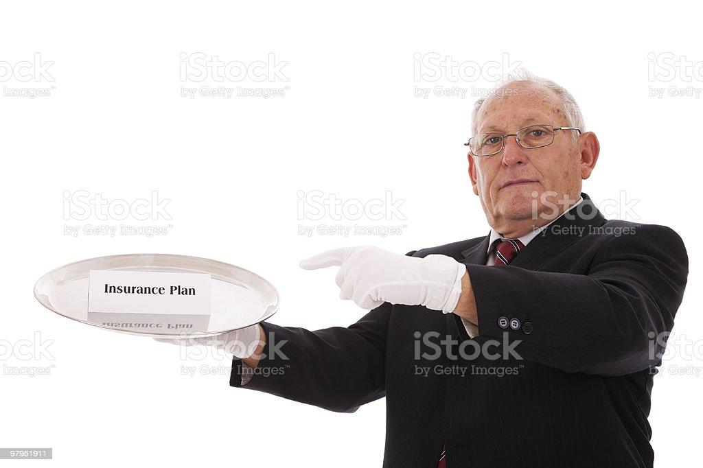 Insurance Plan royalty-free stock photo