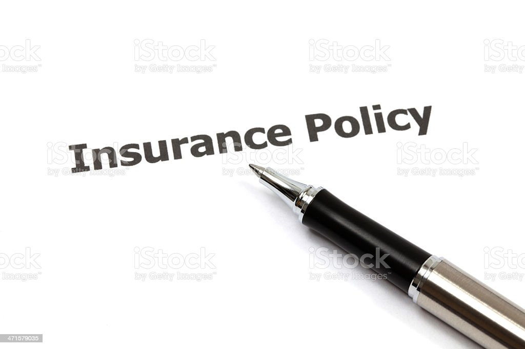 insurance policy royalty-free stock photo