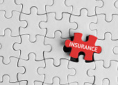 Puzzle pieces with word 'Insurance'