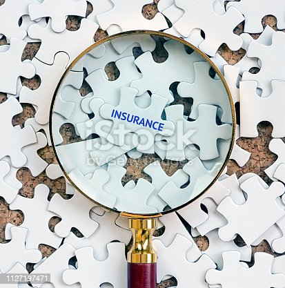 istock Insurance, Puzzle concept. 1127197471
