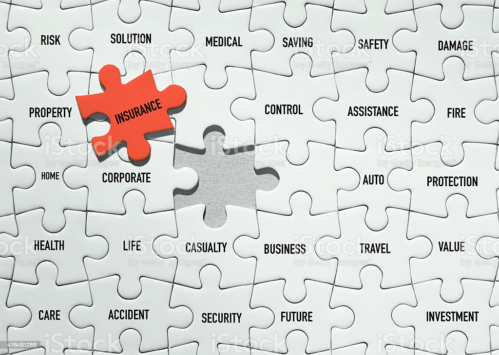insurance Puzzles stock photo