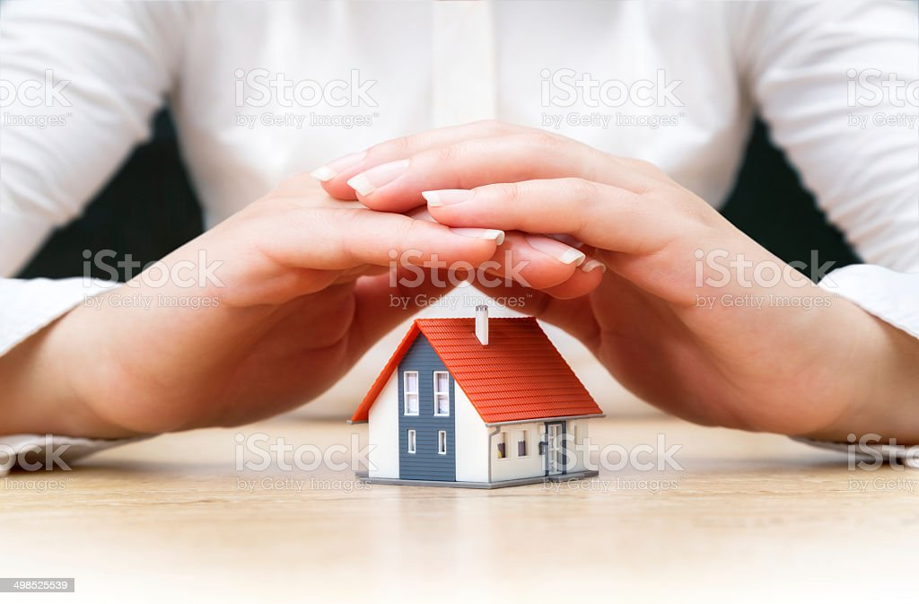 insurance real estate concept stock photo