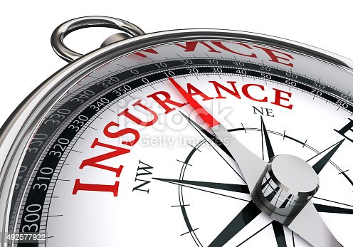 istock insurance red word on concept compass 492577922