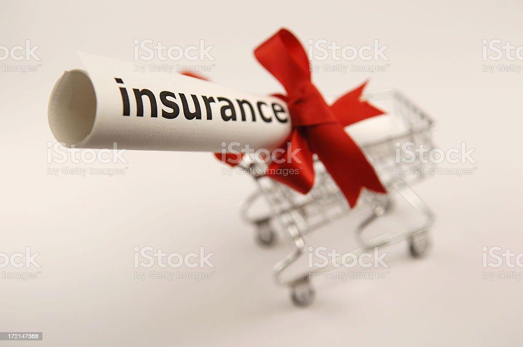 insurance shopping royalty-free stock photo
