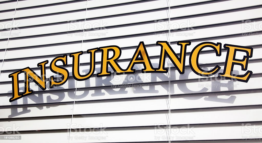 Insurance Sign royalty-free stock photo