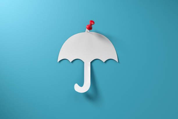 Insurance Umbrella Policy Concept stock photo