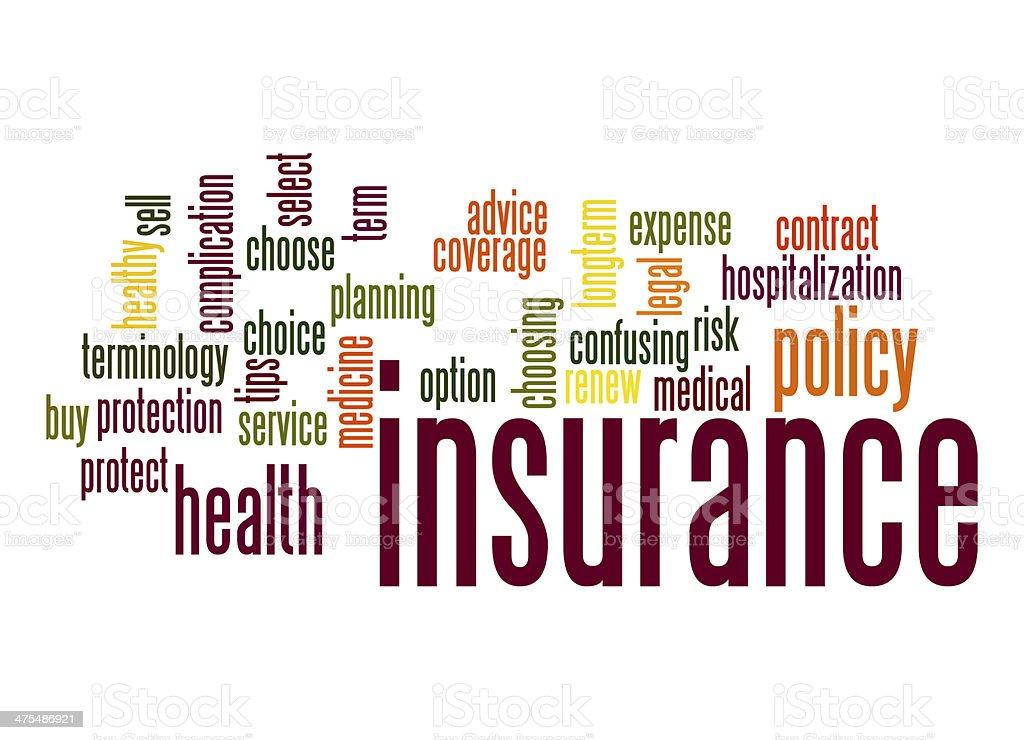 Insurance word cloud stock photo