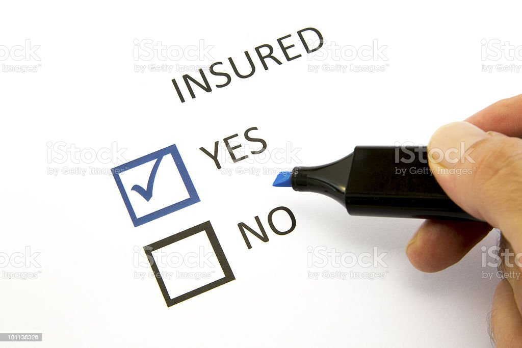 Insured or not ? royalty-free stock photo