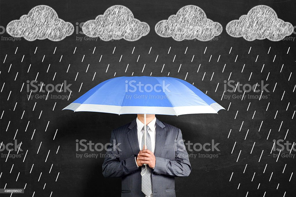 Insured Insured man safe during problems 2015 Stock Photo